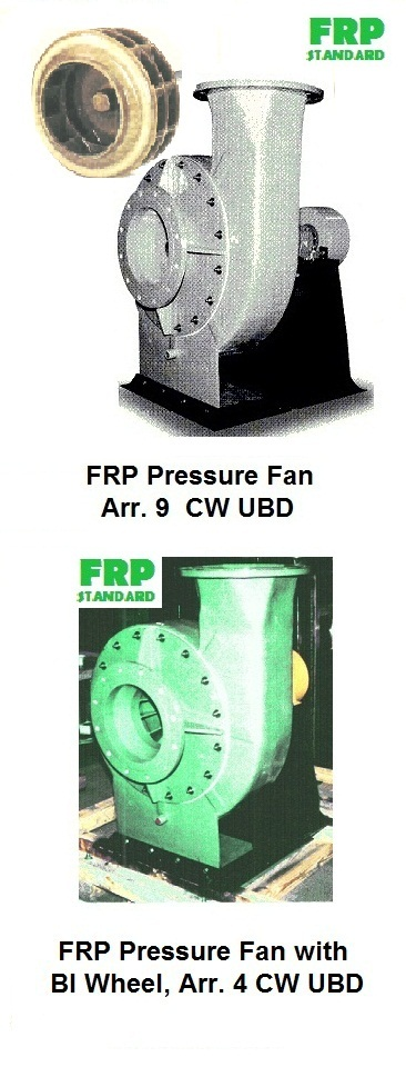 Industrial FRP and propylene PV fans blowers