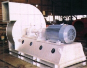 Industrial material handling radial blower fans.